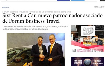 Sixt Rent a Car, nuevo patrocinador asociado de Forum Business Travel