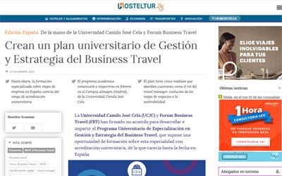 Crean un plan universitario de Gestión y Estrategia del Business Travel