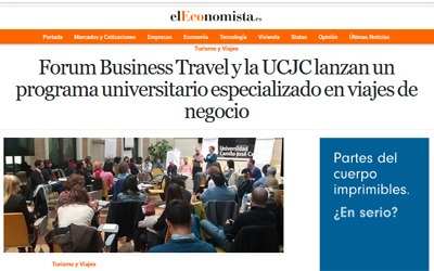 Forum Business Travel y la UCJC lanzan un programa universitario especializado en viajes de negocio
