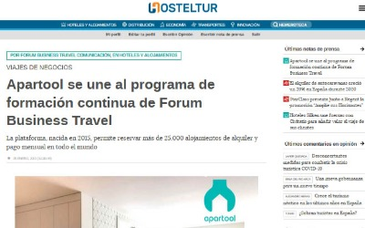 Apartool se une al programa de formación continua de Forum Business Travel